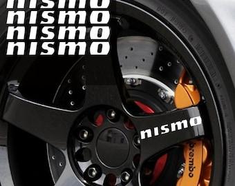 Nismo rim decal sticker wheels TIRES door handle tablet nissan 5 DECALS