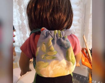 American Girl Doll (18 inch doll) sized Drawstring Backpack