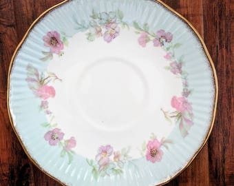 Tea plate, fine bone china, elizabethan