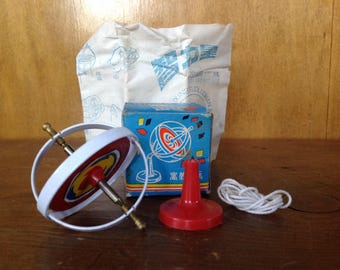 Vintage Metal Toy Gyroscope