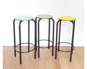 3 stools tops vintage