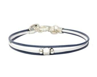 Grey blue and white mum Like bracelet
