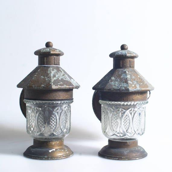 Vintage Outdoor Lanterns Set Of 2