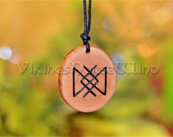 Viking Necklace, Runes Amulet for Perseverance and Everlastingness, Viking Pendant, Protection Amulet Viking Jewelry, Infinity Norse Asatru
