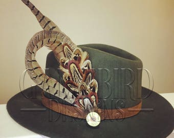 Large Curl Pheasant Feather Hat Pin