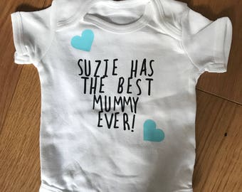 Mother's Day babygrow best mummy