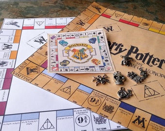 Harry Potter, Monopoly, 7.5 in Travel Set,Harry Potter Game, Handmade, Harry Potter, Monopoly Set,Harry Potter Gifts, Harry Potter Monopoly