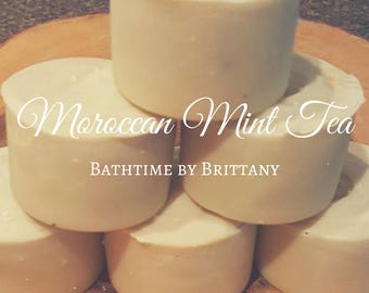 Moroccan Mint Tea Hair Care--Cold Process Shampoo--Shampoo Bar--Solid Shampoo--Conditioner Bar--Solid Conditioner--Travel--READY TO SHIP!