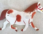 Horse Horse Coat Hanger Coat Peg Kids Coat Peg Kids Coat Hanger Kids Bedroom Hand Painted Hand Painted Coat Peg Horse Skewbald