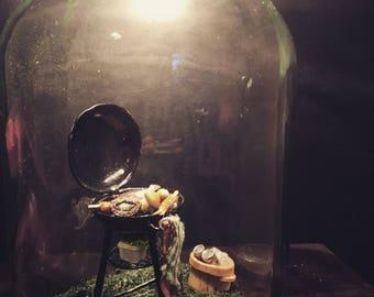 """BBQ"" jar lamp"