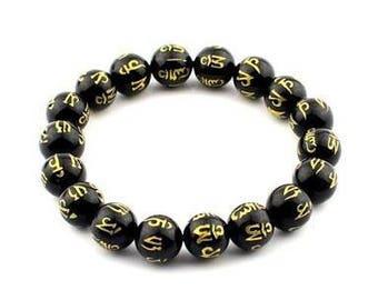 Om mani padme hum bracelet tibétain et le bouddhisme medition