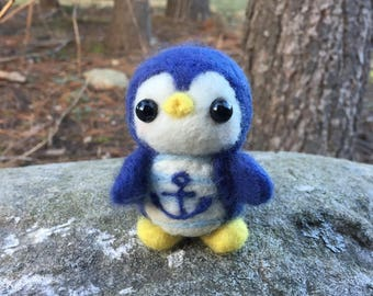 Needle Felted Sailor Penguin
