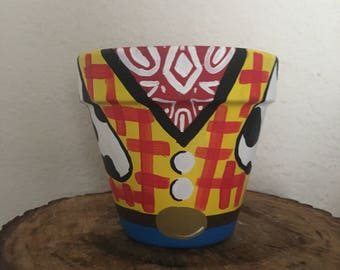Toy story woody centerpeice pot