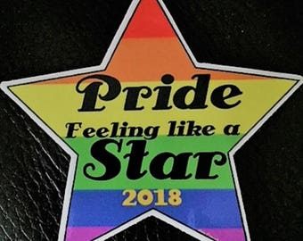 Gay Pride 2018 Sticker, Porn Star Sticker, Gay Star Sticker,Gay Pride Sticker, Gay Pride Sticker, LGBT Sticker, Gay Stickers, 2018 Pride