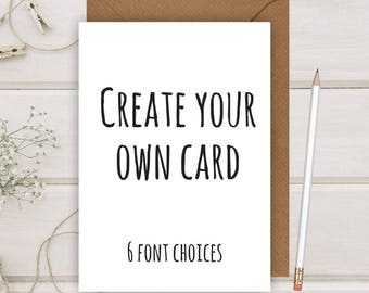Create Your Own Card   Personalised Card   Custom Birthday Card   Custom Greeting Card   Wedding Card   him her Flamingo Lingo B234