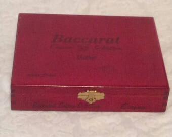 "Baccarat ""Casino Selection"" Red Cigar Box, holds 20 Cigars"