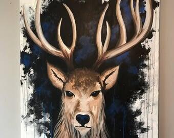 24 x 36 deer painting