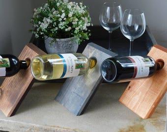 Slanted Wine Bottle Holder - Wine bottle holder - Magic wine bottle holder - Single wine bottle stand