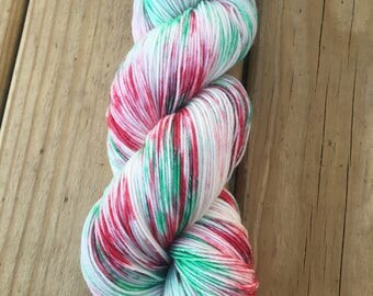 Mistletoe | Christmas Yarn | Holliday Yarn | Hand Dyed Yarn | Indie Dyed Yarn