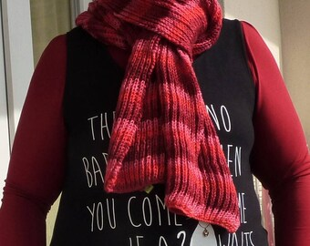 """Bun"" gradient pink-red scarf"