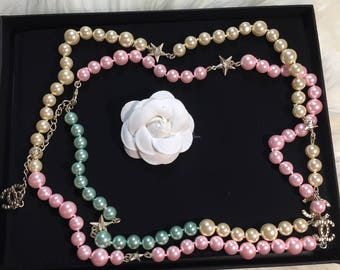 New cute multicolored chanel inspired long necklace