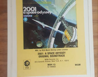2001: A Space Odyssey Original Movie Soundtrack 8 Track Cassette Tape (1968) / Rare S144002