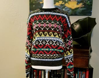 Vintage 80s Multicolored Sweater by Richwil's Back to Back