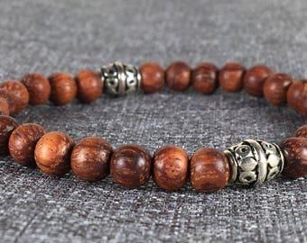 Wooden Bayong Beads Stretch Bracelet