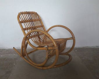 Rattan Rocking Chair for Kids