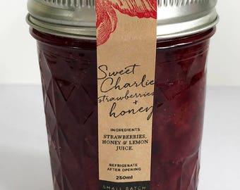 Sweet Charlie Strawberries + Honey