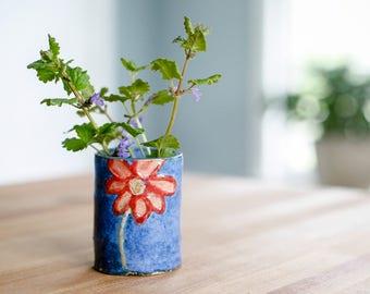 Bud Vase - Ceramic Bud Vase - Handmade Bud Vase - Ceramic Shot Glass - Small Vase - Shot Glass