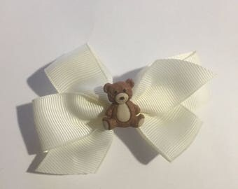 teddy bear hair bow