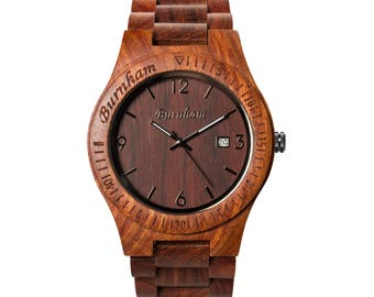 Burnham Watches Precision Wooden Watch with Swiss Movement