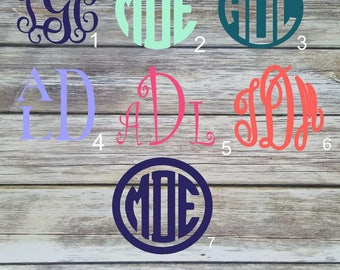Monogram Decal - Car Decal - Laptop Cup Decal