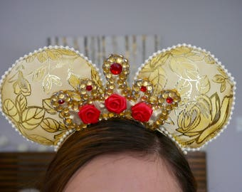 Beauty and the Beast inspired crown Minnie Ears | Mickey Ears