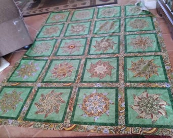 This is a 20 block stacknwack quilt top