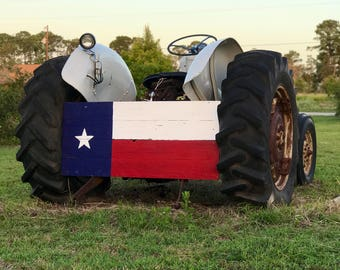 Rustic Large Texas Flag Sign