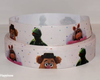 "Muppets 1"" Grosgrain Ribbon 606 By the Yard"