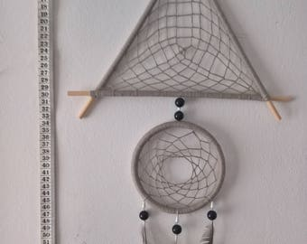Grey Triangular Dreamcatcher Decoration