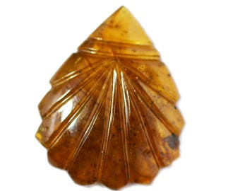 Natural Orange TOURMALINE Carving  / 18.70 carats / Tourmaline Carving / 26x21 mm