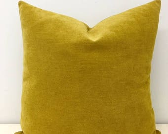 mustard cotton pillow boho pillow mustard pillows rustic pillow 18x18 decorative throw
