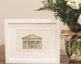Pantheon | Charcoal Drawing | Art Print | Home Decor