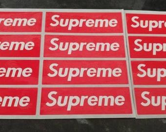Supreme Stickers Small Red Block x 12