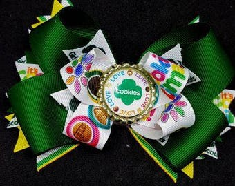 Girl Scout Inspiried Hair Bow