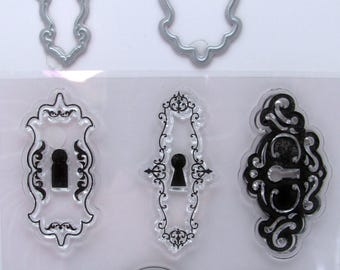 Clear stamps and cutting die - keyhole - die cut