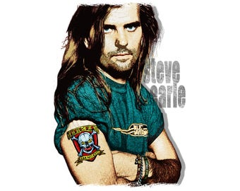 T-SHIRT: Steve Earle / Copperhead Road - Classic T-Shirt & Ladies Fitted Tee - (LazyCarrot)