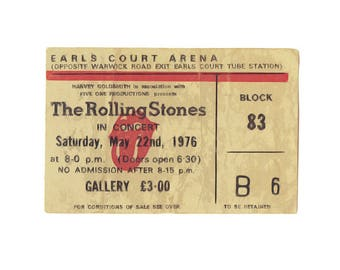 T-SHIRT: The Rolling Stones / Earls Court 1976 - Classic T-Shirt & Ladies Fitted Tee - (LazyCarrot)