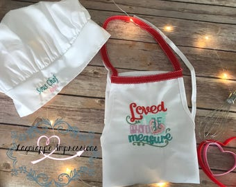"""Child's """"Loved Beyond Measure"""" Apron"""