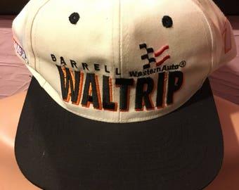 Deadstock Darrell Waltrip Western Auto Racing Snapback Hat 90's NASCAR