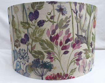Voyage Hedgerow fabric lampshades, handmade ceiling/table, large 40cm or 30cm